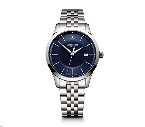 無料ラッピングでプレゼントや贈り物にも 逆輸入並行輸入送料込 腕時計 WEB限定 ビクトリノックス スイス メンズ 送料無料 Victorinox Swiss Army Steel Dial Watch Blue 流行のアイテム 241802腕時計 Alliance Stainless