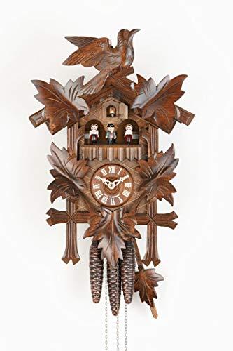 カッコー時計 インテリア 壁掛け時計 海外モデル アメリカ 【送料無料】Sternreiter Bird and Leaf Cuckoo Clock Model 1301 with Grape Leaves, Maple Leaves and a Carved Bird, Linden Wood with Walnカッコー時計 インテリア 壁掛け時計 海外モデル アメリカ