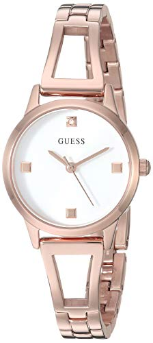 ゲス GUESS 腕時計 レディース 【送料無料】GUESS Women's Analog Watch with Stainless Steel Strap, Rose Gold, 10 (Model: GW0003L3)ゲス GUESS 腕時計 レディース