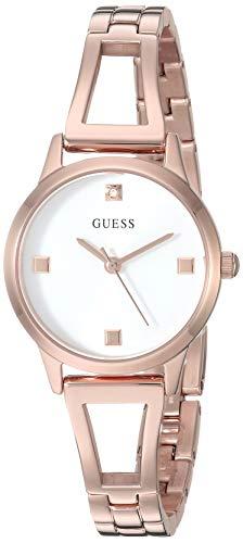 ゲス GUESS 腕時計 レディース 【送料無料】GUESS Women's Analog Watch with Stainless Steel Strap, Rose Gold, 10 (Model: GW0003L3)ゲス GUESS 腕時計 レディース
