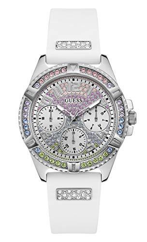 ゲス GUESS 腕時計 レディース 【送料無料】GUESS Women's Stainless Steel Analog Watch with Silicone Strap, White, 17.7 (Model: GW0045L1)ゲス GUESS 腕時計 レディース