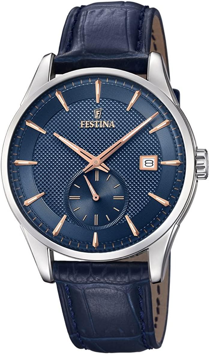 フェスティナ フェスティーナ スイス 腕時計 メンズ 【送料無料】Festina Men's Analogue Quartz Watch with Leather Strap F20277/2フェスティナ フェスティーナ スイス 腕時計 メンズ