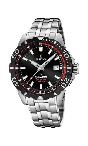 フェスティナ フェスティーナ スイス 腕時計 メンズ 【送料無料】Festina | Mens Divers | Stainless Steel Bracelet | Black Dial | F20461/2フェスティナ フェスティーナ スイス 腕時計 メンズ