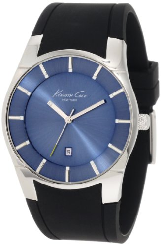 腕時計 ケネスコール・ニューヨーク Kenneth Cole New York メンズ 【送料無料】Kenneth Cole New York Men's Quartz Stainless Steel Case Silicone Strap Black,(Model: KC1612)腕時計 ケネスコール・ニューヨーク Kenneth Cole New York メンズ