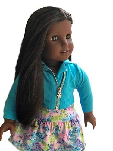 アメリカンガールドール 赤ちゃん おままごと ベビー人形 【送料無料】American Girl - 2018 Truly Me Doll: Dark Skin, Textured Black Hair, Brown Eyes DN80アメリカンガールドール 赤ちゃん おままごと ベビー人形