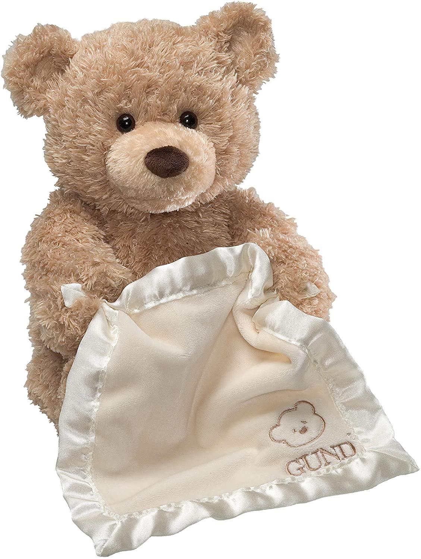 ガンド ぬいぐるみ リアル お世話 かわいい 【送料無料】GUND Peek-A-Boo Teddy Bear Animated Stuffed Animal Plush, 11.5