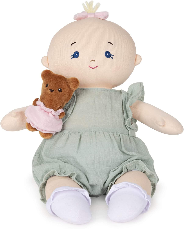 ガンド ぬいぐるみ リアル お世話 かわいい 【送料無料】GUND Baby Baby Doll with Teddy Bear Plush Blonde, Green Romper, 9