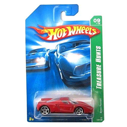 ホットウィール マテル ミニカー ホットウイール 【送料無料】2007 Treasure Hunt #9 Enzo Ferrari Red And Black Interior #2007-129 Collectible Collector Car Mattel Hot Wheelsホットウィール マテル ミニカー ホットウイール