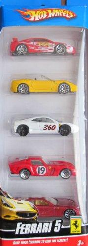 ホットウィール マテル ミニカー ホットウイール 【送料無料】Hot Wheels Vehicles 5 Pack FERRARI 5 Cars (2009)ホットウィール マテル ミニカー ホットウイール