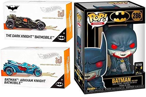ホットウィール マテル ミニカー ホットウイール 【送料無料】Vampire Premium {Batman} Collection Cars Batmobile Series iD Bundled with Red Rain Vinyl Heroes Figure + HW Arkham Knight + Dark Knight Bat ホットウィール マテル ミニカー ホットウイール