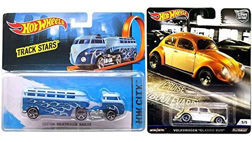 ホットウィール マテル ミニカー ホットウイール 【送料無料】Boulevard Cruise VW Car Culture Real Riders Classic Bug Volkswagen Beetle Bundled with Custom Hauler Stars Truck 2 Itemsホットウィール マテル ミニカー ホットウイール