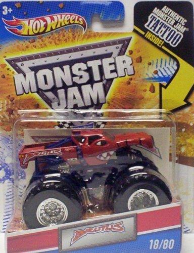 無料ラッピングでプレゼントや贈り物にも 逆輸入並行輸入送料込 ホットウィール 大特価 マテル ミニカー ホットウイール 送料無料 Hot Wheels 2010 Monster Jam Scale 80 1:64 #18 [並行輸入品] by Tattoo Truck Brutus with Collectible Mattelホットウィール