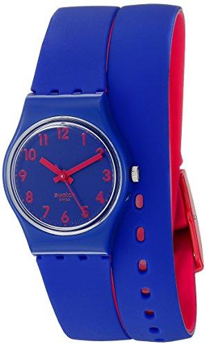 スウォッチ 腕時計 レディース 夏の腕時計特集 LS115 【送料無料】Swatch Women's LS115 Biko Bloo Analog Display Quartz Blue Watchスウォッチ 腕時計 レディース 夏の腕時計特集 LS115