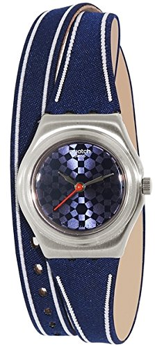 スウォッチ 腕時計 レディース YSS290 Swatch Women's Irony YSS290 Blue Leather Swiss Quartz Watchスウォッチ 腕時計 レディース YSS290