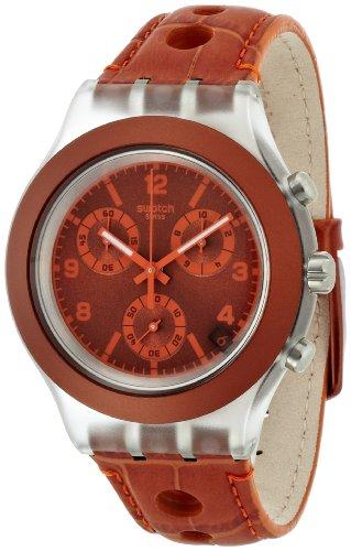 スウォッチ 腕時計 レディース SVCK4073 【送料無料】Swatch Unisex SVCK4073 Rouille Analog Display Quartz Brown Watchスウォッチ 腕時計 レディース SVCK4073