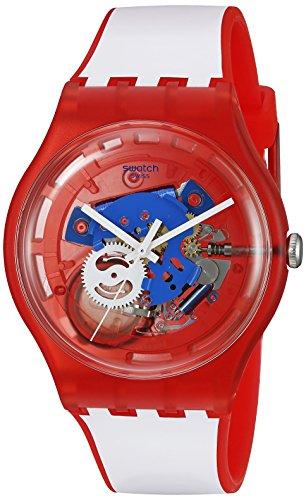 スウォッチ 腕時計 レディース SUOR102 Swatch Unisex SUOR102 Originals Analog Display Swiss Quartz White Watchスウォッチ 腕時計 レディース SUOR102