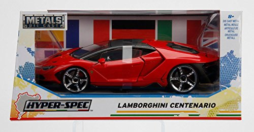 ジャダトイズ ミニカー ダイキャスト アメリカ 【送料無料】New 1/24 W/B JADA Toys Collection - Hyper-Spec - Red Lamborghini Centenario Diecast Model Car by Jada Toysジャダトイズ ミニカー ダイキャスト アメリカ