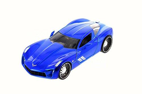 ジャダトイズ ミニカー ダイキャスト アメリカ 【送料無料】2009 Chevy Corvette Stingray Concept, Blue - JADA 97467 - 1/24 Scale Diecast Model Toy Carジャダトイズ ミニカー ダイキャスト アメリカ