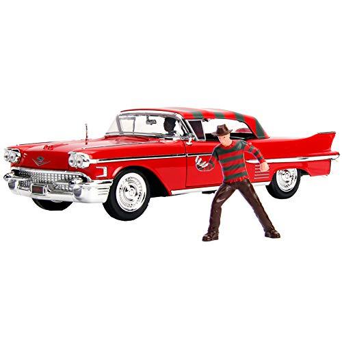 ジャダトイズ ミニカー ダイキャスト アメリカ 【送料無料】DIECAST 1:24 W/B - Metals - Hollywood Rides - Nightmare ON ELM Street - 1958 Cadillac Series 62 with Freddy Krueger Figure 31102 by JADAジャダトイズ ミニカー ダイキャスト アメリカ