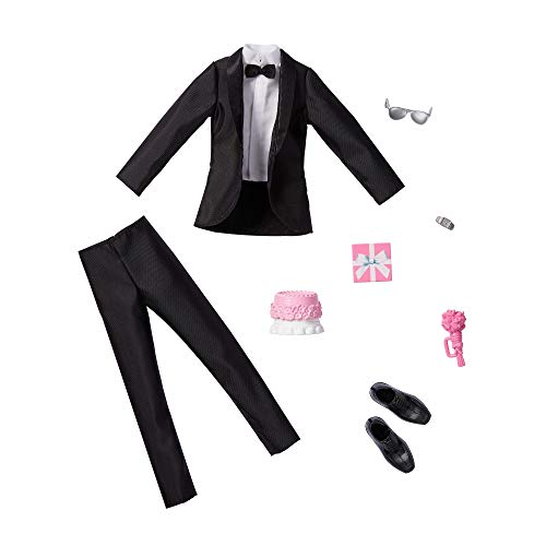 バービー バービー人形 【送料無料】Barbie Fashion Pack: Bridal Outfit for Ken Doll with Tuxedo, Shoes, Watch, Gift, Wedding Cake with Tray & Bouquet, Gift for Kids 3 to 8 Years Oldバービー バービー人形