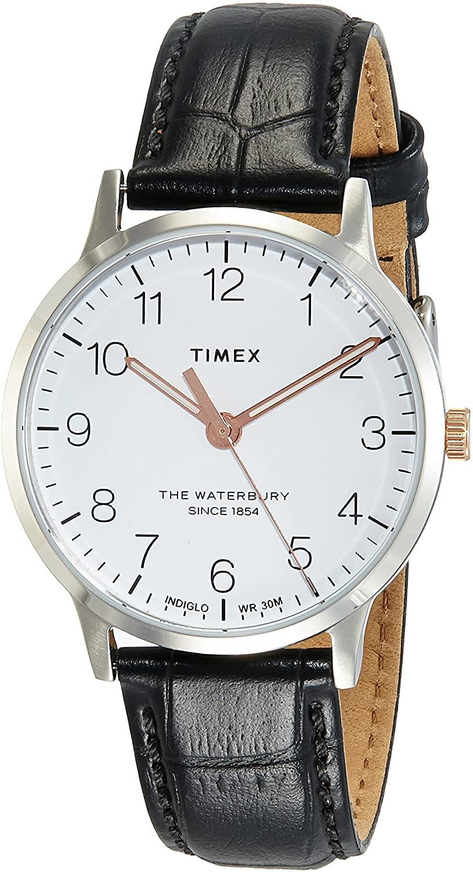腕時計 タイメックス メンズ 【送料無料】Timex Waterbury Classic 36 mm Black Leather Watch TW2R72400腕時計 タイメックス メンズ