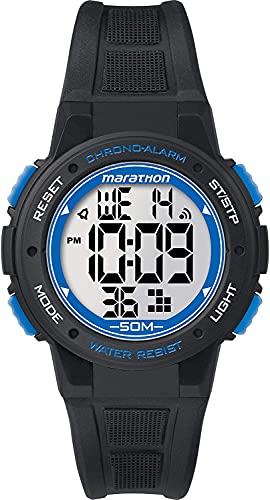 腕時計 タイメックス レディース 【送料無料】Timex TW5K84800 Digital Mid Marathon Black Chronograph Watch腕時計 タイメックス レディース
