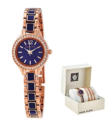 腕時計 アンクライン レディース 【送料無料】Anne Klein Navy Dial Ladies Watch and Bracelet Set AK/3396NRST腕時計 アンクライン レディース