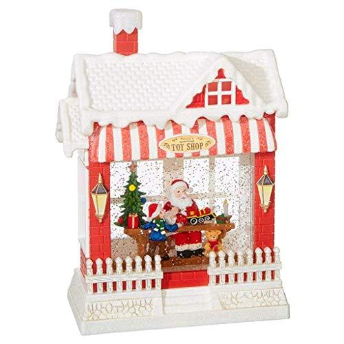 【新作からSALEアイテム等お得な商品満載】 スノーグローブ 雪 置物 インテリア 海外モデル 【送料無料】RAZ Imports Santa's Toy Shop Lighted Water House 10 Inch Holiday Snow Globe with Swirling Glitter and Musicスノーグローブ 雪 置物 インテリア 海外モデル, ラケットプロショップ SUNFAST 59a6ecc2