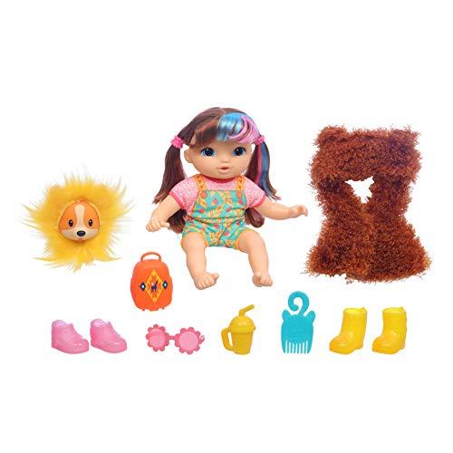 ベビーアライブ 赤ちゃん おままごと ベビー人形 【送料無料】Baby Alive Littles, Fantasy Styles Squad Doll, Little Harlyn, Safari Accessories, Straight Brown Hair Toy for Kids Ages 3 Years and Up (Amazベビーアライブ 赤ちゃん おままごと ベビー人形