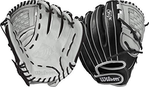 輝い グローブ 内野手用ミット ウィルソン 野球 野球 ベースボール Handグローブ 内野手用ミット【送料無料】Wilson WTA12LF1712 Onyx Cat Web Fastpitch Glove, 12