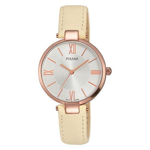 腕時計 パルサー SEIKO セイコー レディース 【送料無料】Pulsar Ladies Rose Gold Cream Leather Strap Watch腕時計 パルサー SEIKO セイコー レディース