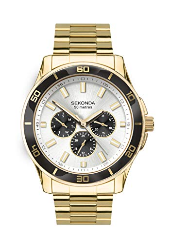 腕時計 セコンダ イギリス メンズ 【送料無料】SEKONDA Mens Multi dial Quartz Watch with Stainless Steel Strap 1646腕時計 セコンダ イギリス メンズ