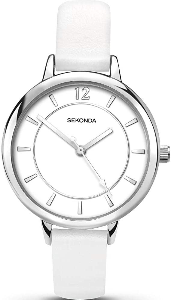 腕時計 セコンダ イギリス レディース 【送料無料】Sekonda Editions Ladies Watch with White Dial and White Strap 2504腕時計 セコンダ イギリス レディース