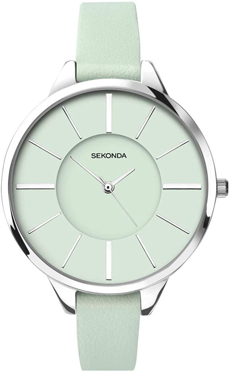 腕時計 セコンダ イギリス レディース 【送料無料】Sekonda Editions Ladies Watch with Mint Green Dial and Mint Green Leather Strap 2980腕時計 セコンダ イギリス レディース