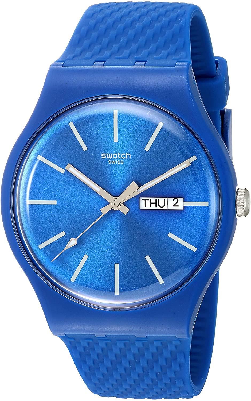 腕時計 スウォッチ メンズ 夏の腕時計特集 【送料無料】Swatch 1907 BAU Quartz Silicone Strap, Blue, 19 Casual Watch (Model: SUON711)腕時計 スウォッチ メンズ 夏の腕時計特集
