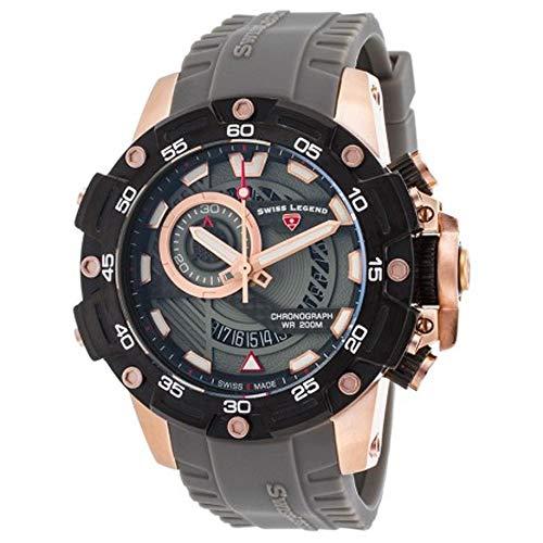 メンズ 【送料無料】Swiss スイスレジェンド - スイスレジェンド 腕時計 メンズ Watch Legend Chronograph Orca SL-10040SM-RG-014-GRYS腕時計