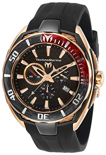 TM-118047)腕時計 Silicone Watch Men's Cruise Black, Quartz 25 テクノマリーン テクノマリーン (Model: 【送料無料】Technomarine Strap, California メンズ 腕時計 Steel メンズ Stainless with II