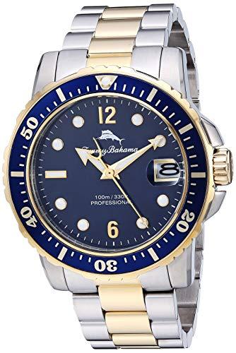 腕時計 トミーバハマ メンズ アメカジ アメリカ 【送料無料】Tommy Bahama Men's Japanese Quartz Stainless Steel Strap, Metallic, 21.4 Casual Watch (Model: 215161GST711)腕時計 トミーバハマ メンズ アメカジ アメリカ