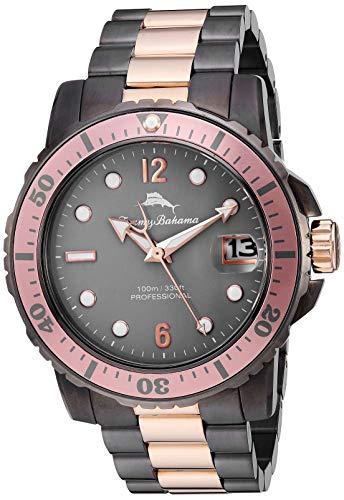 腕時計 トミーバハマ メンズ アメカジ アメリカ 【送料無料】Tommy Bahama Men's Japanese Quartz Stainless Steel Strap, Metallic, 21.8 Casual Watch (Model: 215161RST221)腕時計 トミーバハマ メンズ アメカジ アメリカ