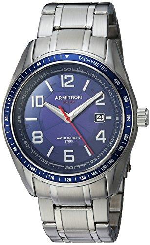 腕時計 アーミトロン メンズ 【送料無料】Armitron Men's 20/5252NVSV Solar Powered Date Calendar Dial Silver-Tone Bracelet Watch腕時計 アーミトロン メンズ