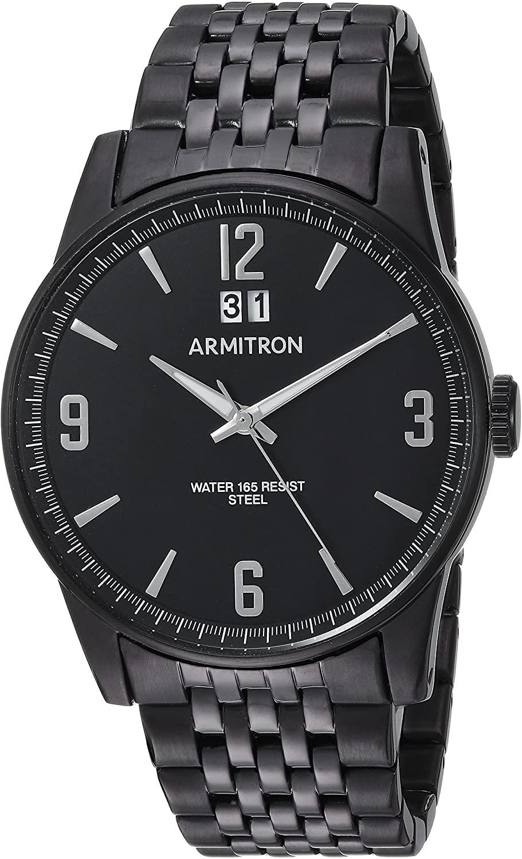 腕時計 アーミトロン メンズ 【送料無料】Armitron Men's 20/5231BKTI Date Calendar Dial Black Bracelet Watch腕時計 アーミトロン メンズ