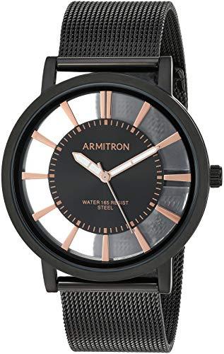 腕時計 アーミトロン メンズ 【送料無料】Armitron Men's Black Mesh Bracelet Watch, 20/5412BKTI腕時計 アーミトロン メンズ