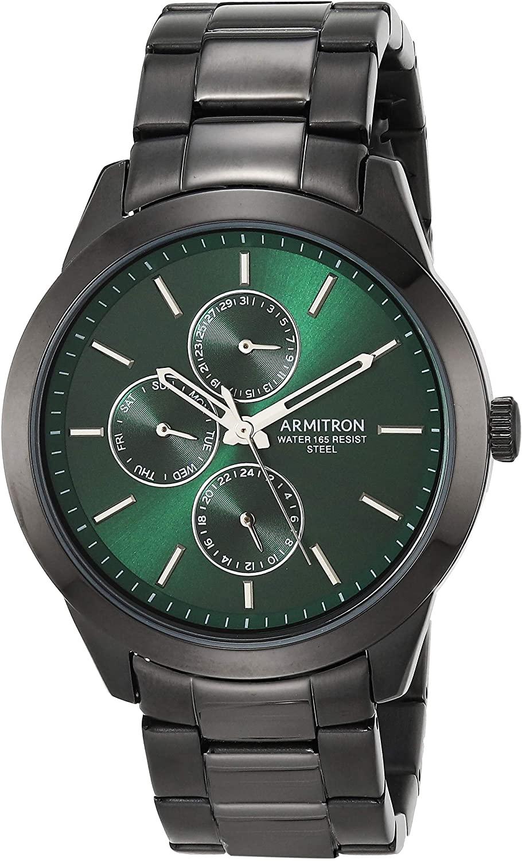 Multi-Function アーミトロン 【送料無料】Armitron Men's メンズ 20/5435GNTI腕時計 Black Bracelet メンズ アーミトロン Watch, 腕時計