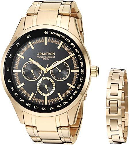 腕時計 アーミトロン メンズ 【送料無料】Armitron Dress Watch (Model: 20/5348BKGPST)腕時計 アーミトロン メンズ