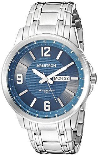 2021年最新入荷 腕時計 アーミトロン メンズ 【送料無料】Armitron Men's 20/5295NVSV Day/Date Function Silver-Tone Bracelet Watch腕時計 アーミトロン メンズ, ミタカシ 3a9a027c