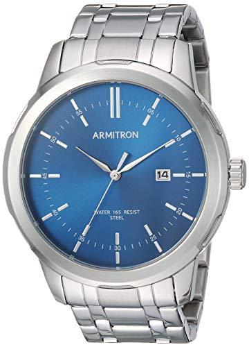 腕時計 アーミトロン メンズ 【送料無料】Armitron Men's 20/5245NVSV Date Function Silver-Tone Bracelet Watch腕時計 アーミトロン メンズ