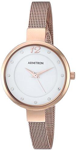 【限定製作】 腕時計 アーミトロン レディース 【送料無料】Armitron Women's 75/5465WTRG Swarovski Crystal Accented Rose Gold-Tone Mesh Bracelet Watch腕時計 アーミトロン レディース, ZIPスポーツ 53f450fc