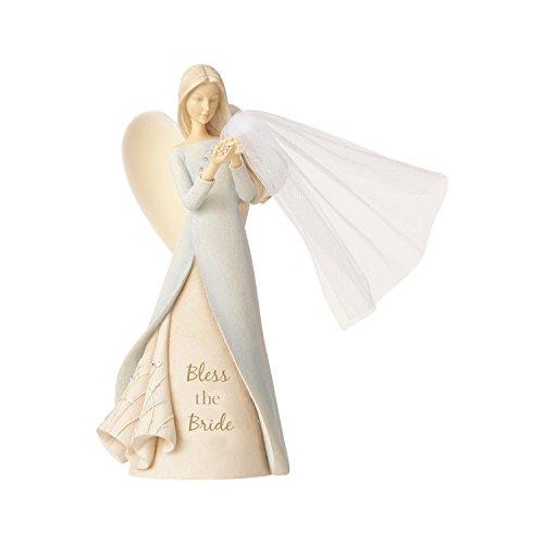 エネスコ Enesco 置物 インテリア ディズニー 海外モデル 【送料無料】Enesco Foundations Bless The Bride Angel, 9.06