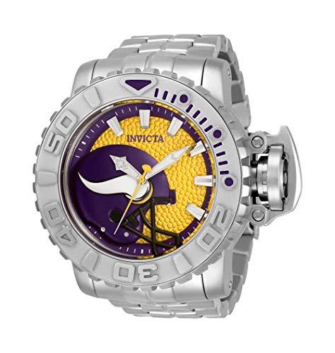 至高 無料ラッピングでプレゼントや贈り物にも 逆輸入並行輸入送料込 腕時計 インヴィクタ インビクタ メンズ 送料無料 Invicta Vikings Watch Men's Minnesota 33023腕時計 NFL Automatic 交換無料
