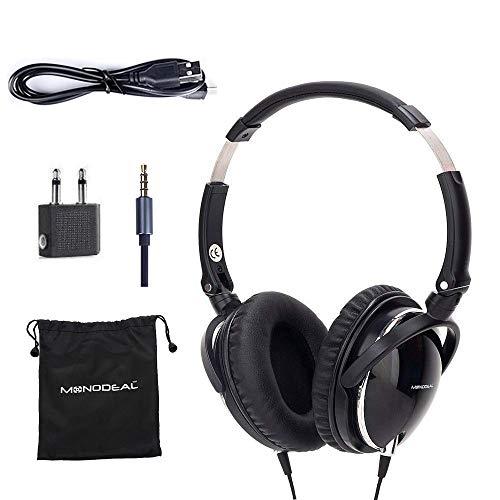 ノイズキャンセルヘッドホン ヘッドフォン イヤホン 海外 輸入 Mo-can1 Active Noise Cancelling Headphones with Mic, MonoDeal Over Ear Deep Bass Earphones, Folding and Lightweight Travel Hノイズキャンセルヘッドホン ヘッドフォン イヤホン 海外 輸入 Mo-can1